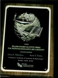 McGuffey Award 2003 for Anthony's Textbook of Anatomy & Physiology